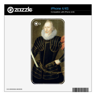 Portrait of a Man, 1593 (oil on panel) Skin For The iPhone 4S