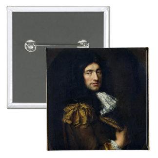 Portrait of a Man 2 2 Inch Square Button