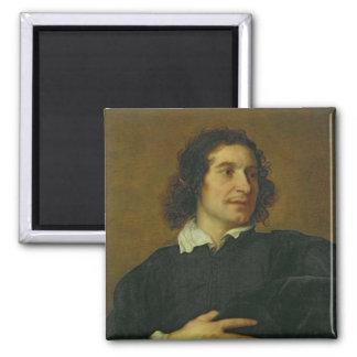 Portrait of a Man 2 2 Inch Square Magnet