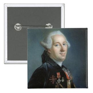 Portrait of a Man 4 2 Inch Square Button