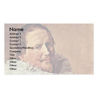 Portrait Of A Man About Thirty With Pleated Collar Business Card Templates