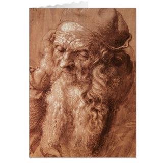 Portrait of a man, aged ninety-three, 1521 greeting card