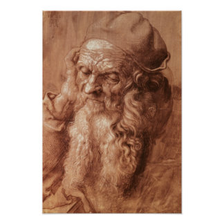 Portrait of a man, aged ninety-three, 1521 poster