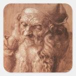 Portrait of a man, aged ninety-three, 1521 sticker