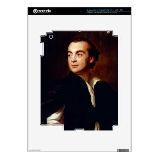 Portrait of a man by Anton Raphael Mengs iPad 3 Decals
