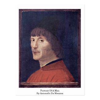 Portrait Of A Man By Antonello Da Messina Postcards