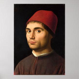 Portrait of a Man by Antonello da Messina Posters