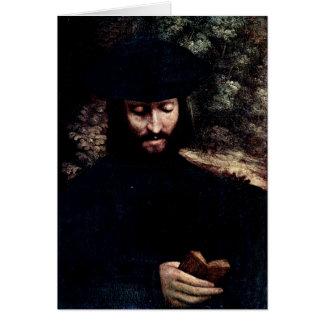 Portrait Of A Man By Antonio Allegri Da Correggio Card