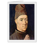 Portrait Of A Man By Bouts Dieric Greeting Card