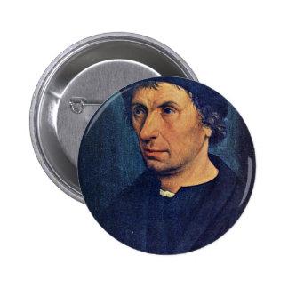 Portrait Of A Man By Kalkar Jan Joest Van (Best Qu Button