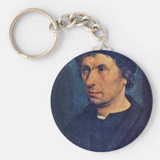 Portrait Of A Man By Kalkar Jan Joest Van (Best Qu Key Chains