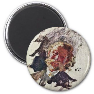 Portrait Of A Man By Leibl Wilhelm (Best Quality) Magnets