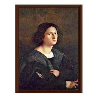 Portrait Of A Man By Palma Il Vecchio Post Card