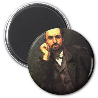 Portrait Of A Man By Paul Cézanne (Best Quality) 2 Inch Round Magnet