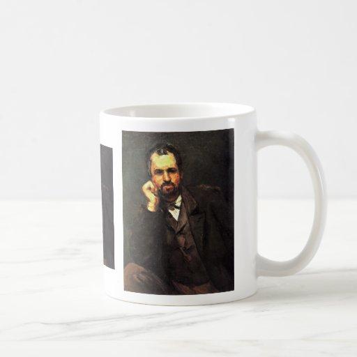 Portrait Of A Man By Paul Cézanne (Best Quality) Classic White Coffee Mug