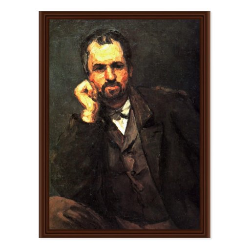 Portrait Of A Man By Paul Cézanne (Best Quality) Postcard