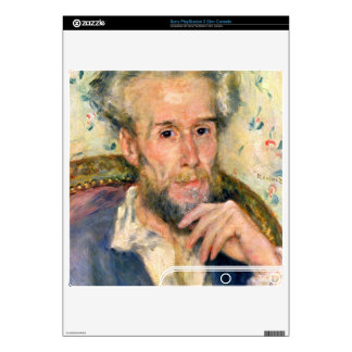 Portrait of a man by Pierre Renoir PS3 Slim Decal