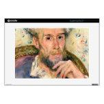 """Portrait of a man by Pierre Renoir 15"""" Laptop Decals"""