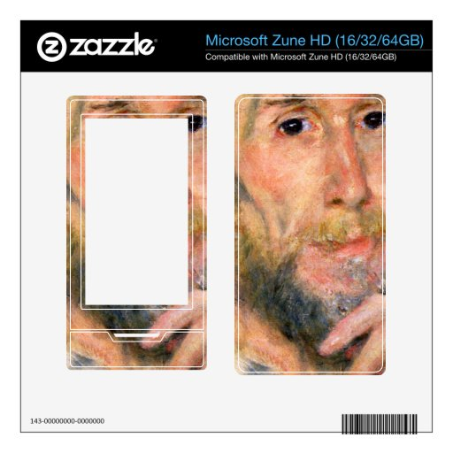 Portrait of a man by Pierre Renoir Decals For The Zune HD