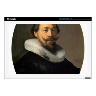Portrait of a man by Rembrandt Skins For Laptops