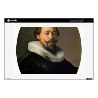 Portrait of a man by Rembrandt Laptop Decals