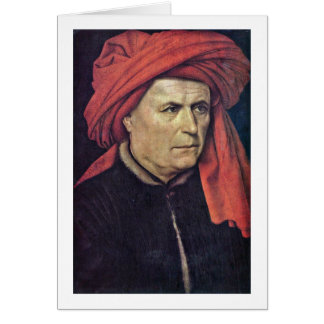 Portrait Of A Man By Robert Campin Greeting Card