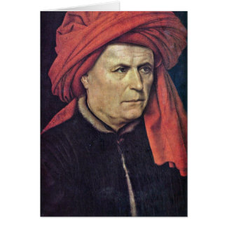 Portrait Of A Man By Robert Campin Cards