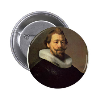 Portrait Of A Man. By Workshop Of Rembrandt Pinback Buttons