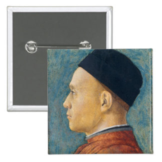 Portrait of a Man, c. 1470 (tempera on panel) Pinback Button