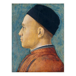 Portrait of a Man c 1470 tempera on panel Postcard