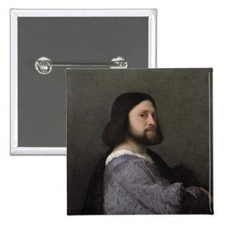 Portrait of a Man, c.1512 2 Inch Square Button