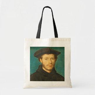 Portrait of a Man, c. 1536- 40 (oil on walnut) Tote Bag