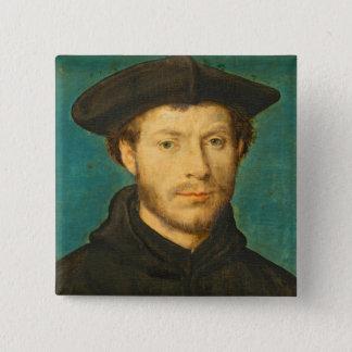 Portrait of a Man, c. 1536- 40 (oil on walnut) Button