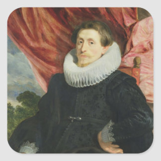 Portrait of a Man, c.1619 Square Sticker