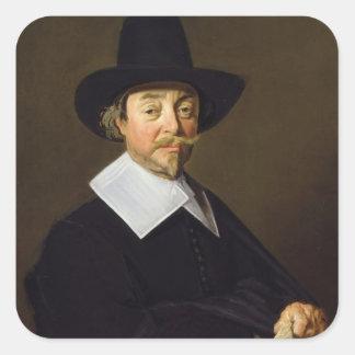 Portrait of a man, c.1643-45 square sticker
