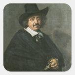 Portrait of a man, c.1654-55 square sticker