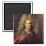 Portrait of a Man, c.1715 2 Inch Square Magnet