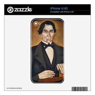Portrait of a Man, c.1845 Decals For iPhone 4S