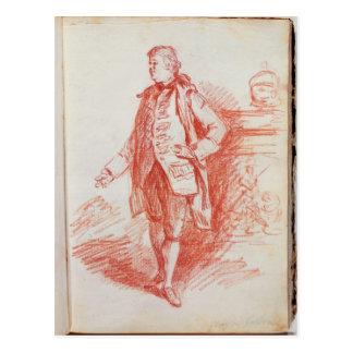 Portrait of a Man, called Edward Gibbon (1737-94) Postcard