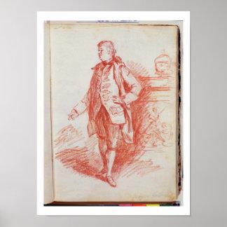 Portrait of a Man, called Edward Gibbon (1737-94) Print