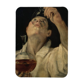 Portrait of a Man Drinking, c.1581-4 (oil on canva Magnet