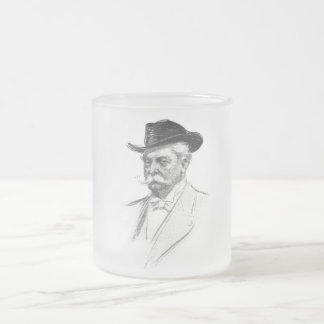 Portrait of a Man Frosted Glass Coffee Mug