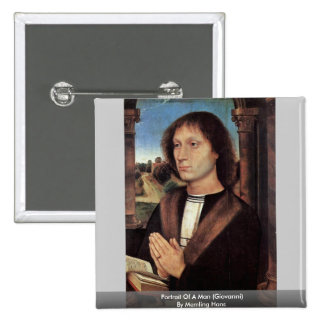 Portrait Of A Man (Giovanni) By Memling Hans Pins