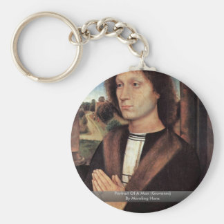 Portrait Of A Man (Giovanni) By Memling Hans Keychains