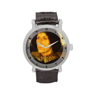 Portrait of a Man in a Landscape by Hans Memling Wrist Watch