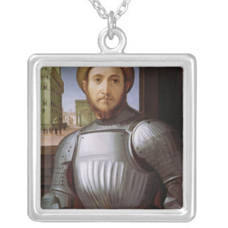 Portrait of a Man in Armour Custom Necklace