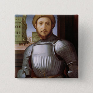 Portrait of a Man in Armour Pinback Button
