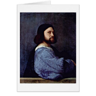 Portrait Of A Man (L'Ariosto) By Titian Greeting Card