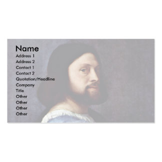 Portrait Of A Man (L'Ariosto) By Tizian Double-Sided Standard Business Cards (Pack Of 100)