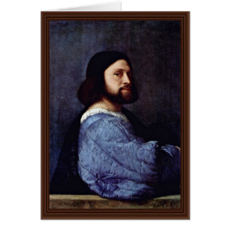 Portrait Of A Man (L'Ariosto) By Tizian Greeting Card